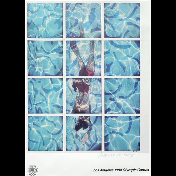 David Hockney. Los Angeles 1984 Olympic Games.   #davidhockney #hockney #poster #artistsposters #originalposter #art #artforsale #goldmarkart #goldmarkgallery #discoverrutland #loveuppingham  Available online. Link in profile.