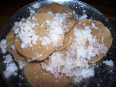 Malidha - a tasty snack made with wheat flour, sugar, and coconut shreds.