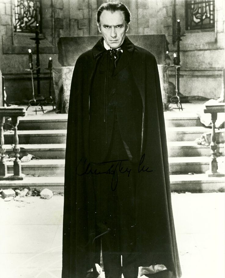 Christopher Lee - Dracula! He's Not Bela, but a close 2nd.