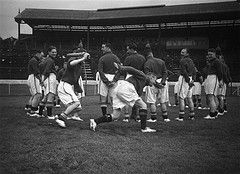 26th August 1939: Members of the Chelsea team training
