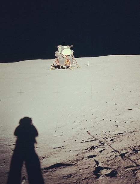 First Lunar Landing Sunday July 20, 1969 [Image by Neil A. Armstrong, Apollo 11 Command Pilot and First Man to Walk on the Moon]