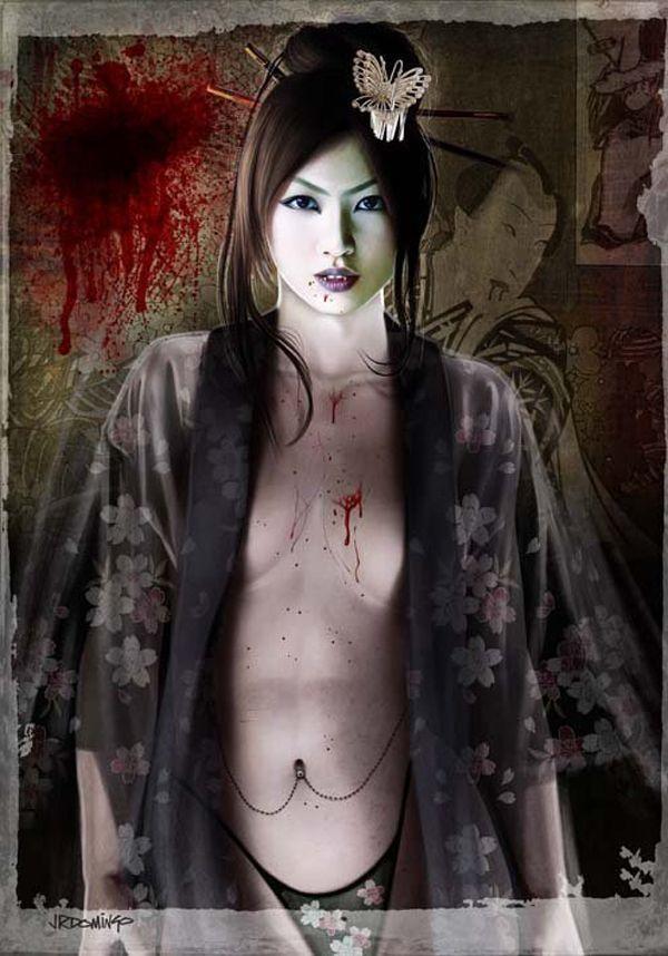 Resultado de imagen de esculturas de geishas