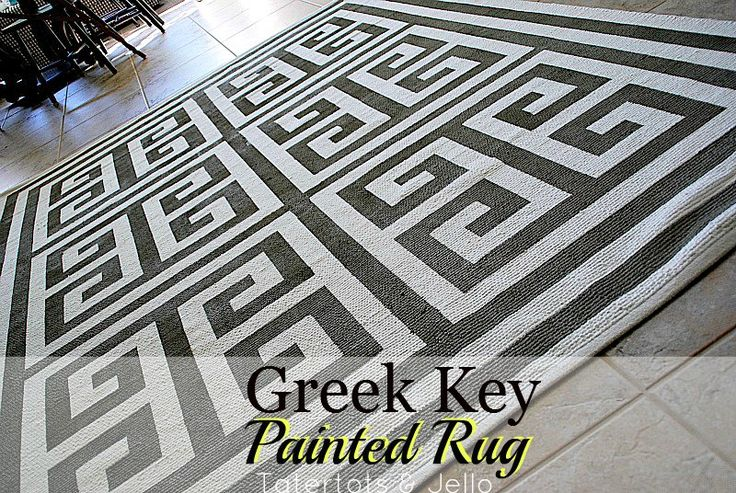 How to Make a Painted Greek Key Rug!!: Ikea Rug, Patterns Rugs, Greek Key, Terrif Ideas, Interesting Ideas