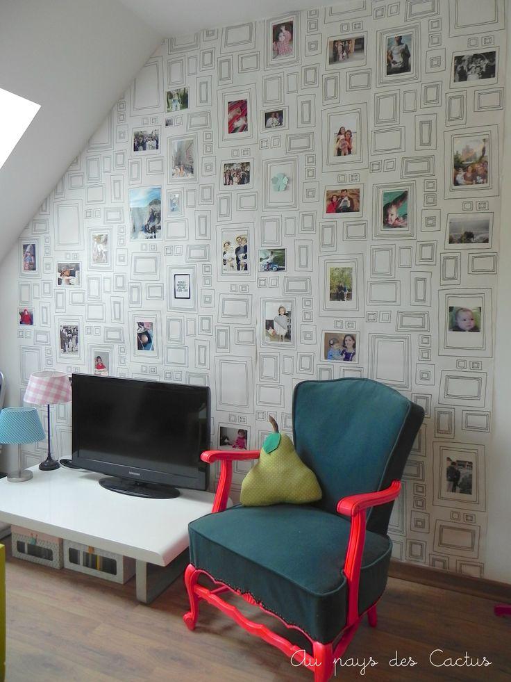 papier peint cadres graham brown by au pays des cactus et pourquoi pas dans les toilettes. Black Bedroom Furniture Sets. Home Design Ideas