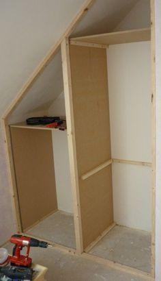 faire ses placards soi-même, du sur-mesure pas cher pour aménager les combles ! L\'espace sous les toits est optimisé