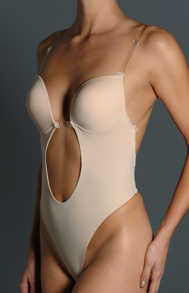 Where the hell was this when I needed it?? Backless g-string shapewear for backless wedding dresses.