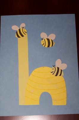these alphabet projects are wonderful...I could see having an adult doing them and just having them up