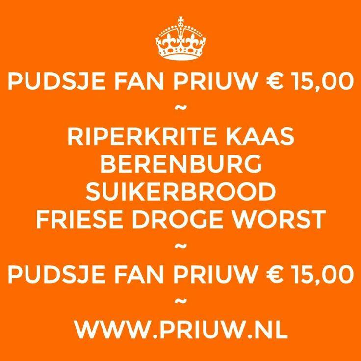 Pudsje fan Priuw. Typische Friese producten in een kadozak, 15 euro. Riperkrite #kaas, Berenburg, suikerbrood en droge worst. #food #cheese #local #eko #eco #fairtrade #frisian #farmfood   Wij verzenden ook! Binnen en buitenland tegen huidig tarief!   WWW.PRIUW.NL