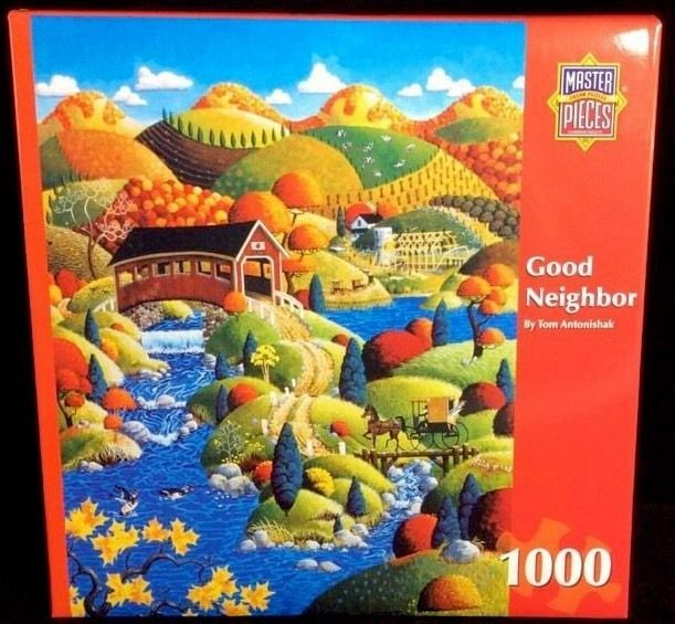 Good Neighbor Tom Antonishak Masterpieces Puzzle 1000 Pieces Factory Sealed #MasterPieces
