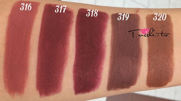 Tutti gli SWATCHES dei Nuovi Rossetti Kiko Velvet Passion Matte Lipstick