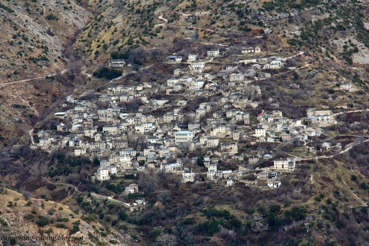 The famous stone village Syrrako, Pindus, Greece