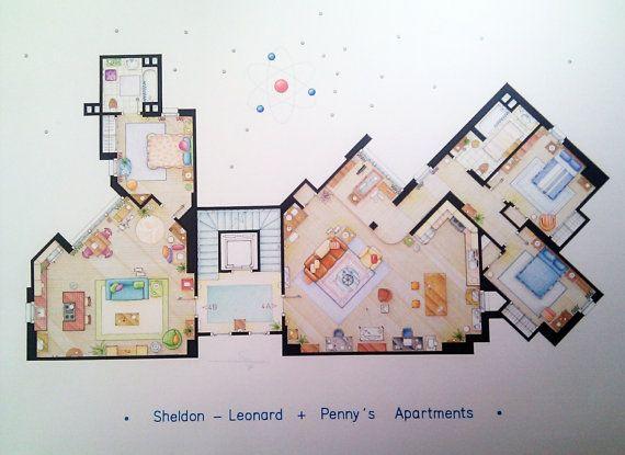 SheldonLeonard & Penny's Apartments from TBBT BIG by FLOORPLANSTV