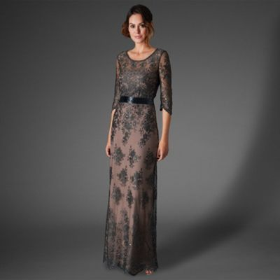 Phase Eight Charcoal sabrina lace beaded dress- at Debenhams.com