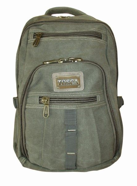 """Laptop Backpack - 15"""" @ R690 Specs. 1.25kg, 31 x 18 x 46cm Code:3695LL15L Features: 16 OZ Canvas, Padded Back Straps, Tosca Air Passage Padding"""