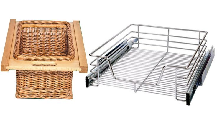 Vegetable baskets from Franci Furniture Fittings are a must in any modern kitchen. Its chrome finish is hard wearing and easy to clean. A ball bearing slide makes sure that all movements are smooth.