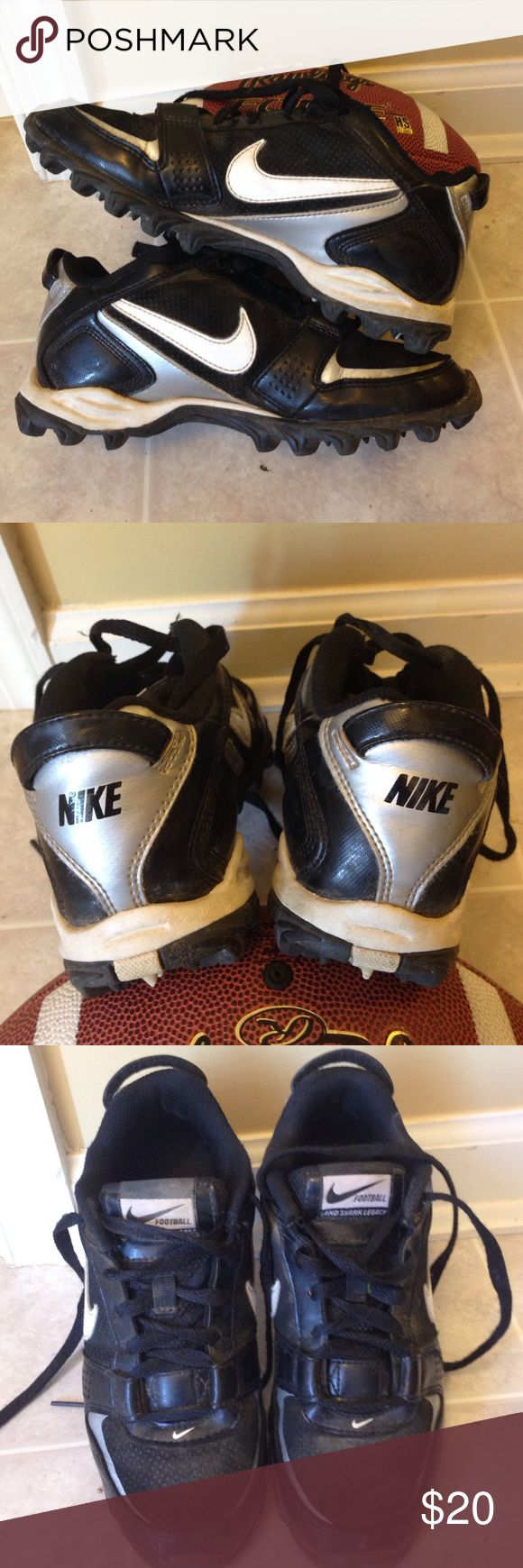 Nike Boys Football Cleats Size 4.5Y. Barely used! Great condition boys football Cleats. Can be used for baseball as well. Almost new! Nike Shoes Sneakers