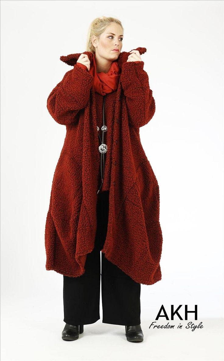 Lagenlook Mantel kupfer - AKH Fashion neue Kollektion für Herbst und Winter.