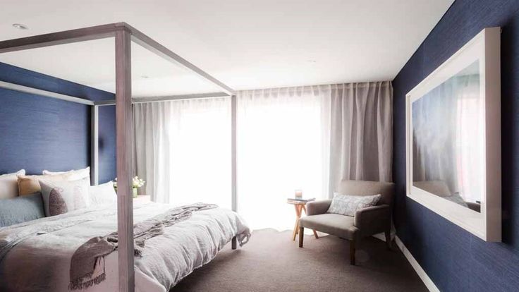 And Darren loved the modern four poster bed and said the scale of it made the room feel larger.