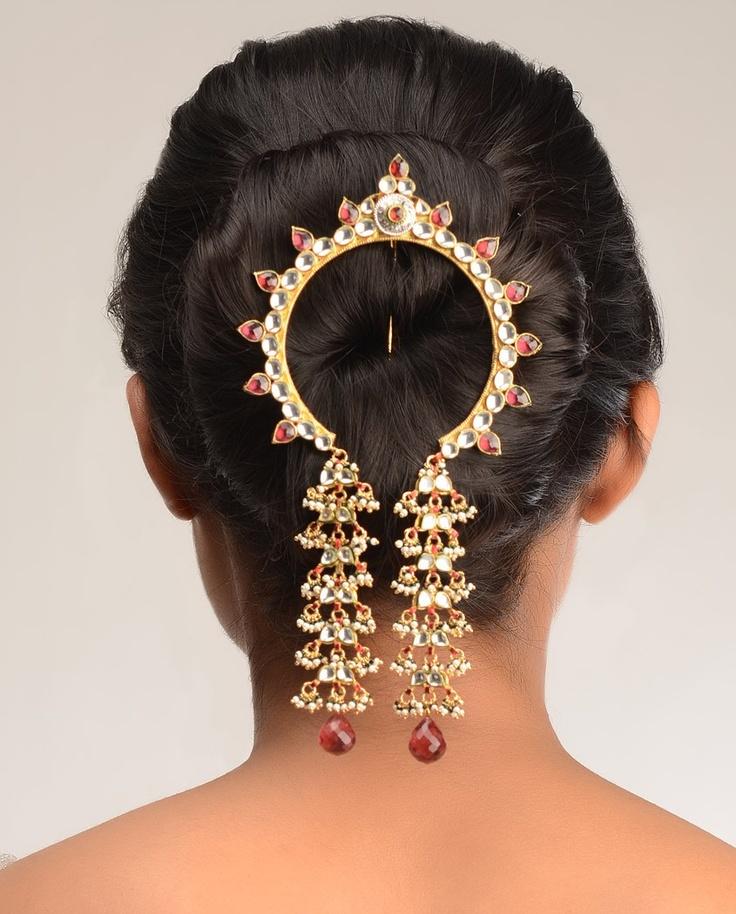 Aaradhya Kundan Hair Pin by Bansri Joaillerie