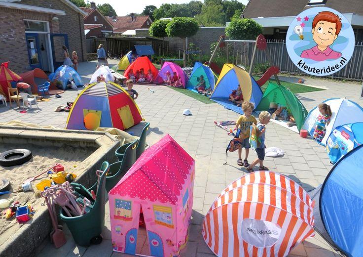 Afsluiting project camping met kleuters, kleuteridee.nl.