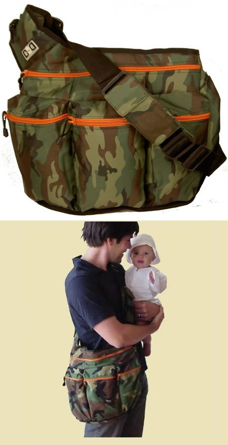 """Camo baby bag (For the next one) (so Christian doesn't have to carry something """"girly"""")"""