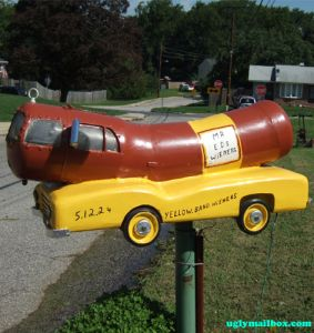 hot dog!  Paul Ryan Drove The Oscar Mayer Weinermobile  HE WILL DRIVE IT ALL THE WAY TO THE WHITE HOUSE ROMNEY/RYAN 2012: Awesome Mailbox, Oscars Meyer, Dogs Mobiles, Unique Mailbox, Oscars Mayer, Unusual Mailbox, Mail Boxes, Hot Dogs