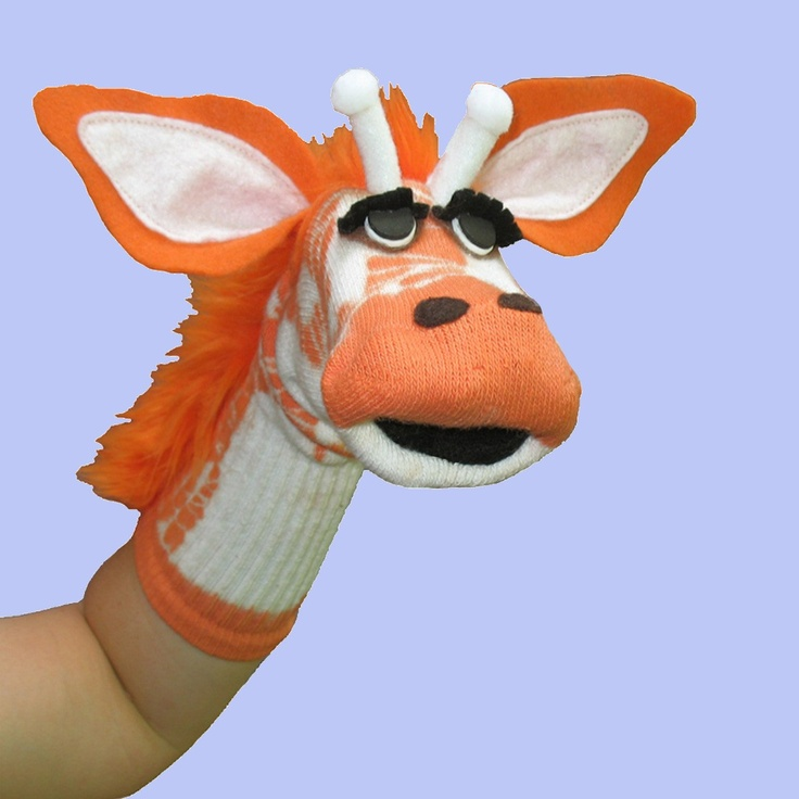 Sock Puppet Patterns | Giraffe Sock PuppetBIG SALE by electrickzoo on Etsy