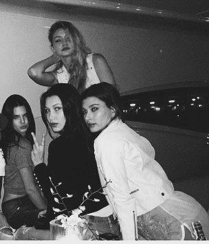 Gigi Hadid, Kendall Jenner, Bella Hadid & Hailey Baldwin