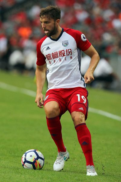 Jay Rodriguez of West Bromwich Albion in action during the Premier League Asia Trophy match between Leicester City and West Bromwich Albion at Hong Kong Stadium on July 19, 2017 in Hong Kong, Hong Kong.