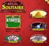 Regal Solitaire - http://zoopgames.com/regal-solitaire/ - Klondike, Freecell, Scorpion, Golf, Poker, Three Blind Mice, Pyramid, Osmosis, Spider, Vegas.   - Freecell, golf, Klondike, Osmosis, Poker, pyramid, Scorpion, Spider, Three Blind Mice, Vegas