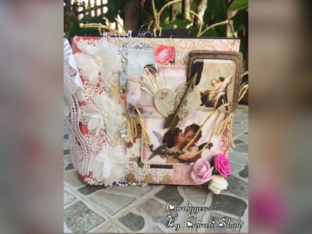 A beautiful Bob n Betty shabby chic Love Mini Album.