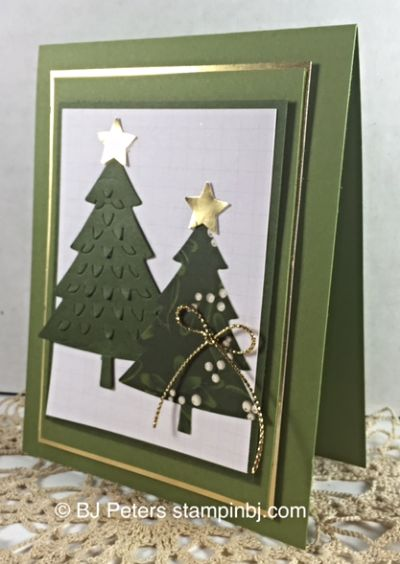Peaceful Pines, Stampin' Up!, BJ Peters, Project Life, Blog Hop