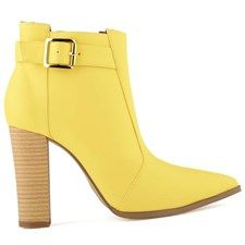 Ladies Chic Ankle Boots Yellow