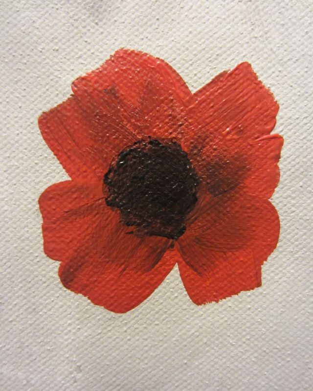 How to paint a poppy :)