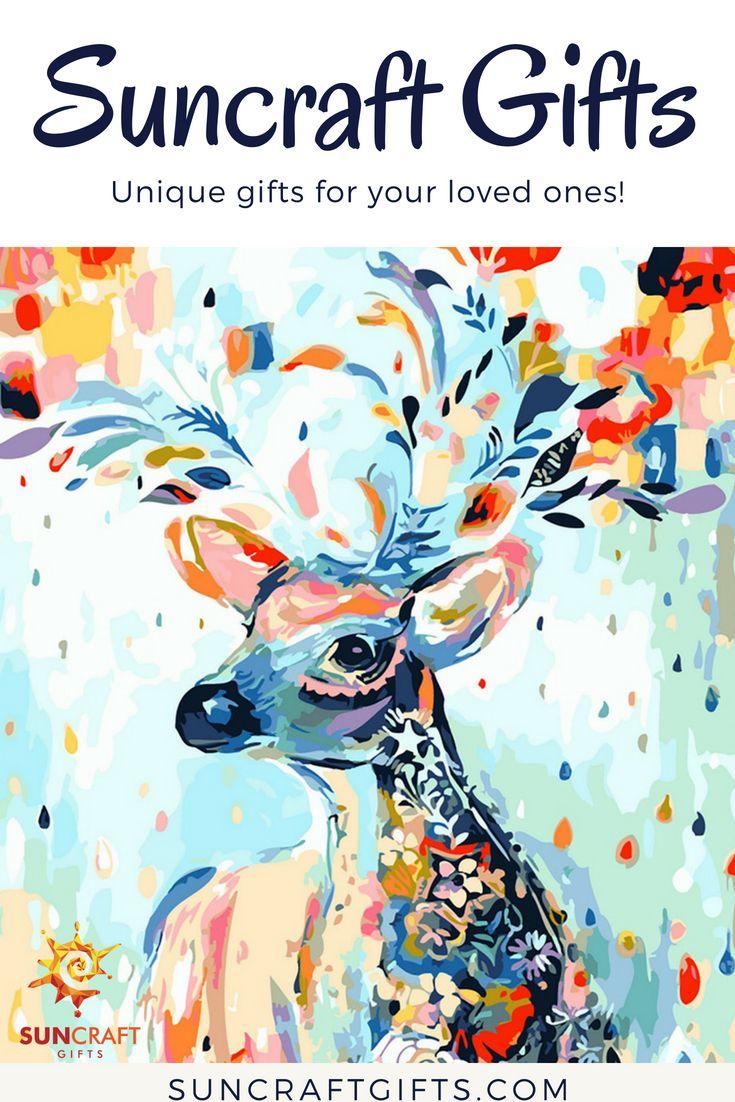 DIY Painting Kit-Paint by numbers-Deer. #diy #custom #painting #deer ...