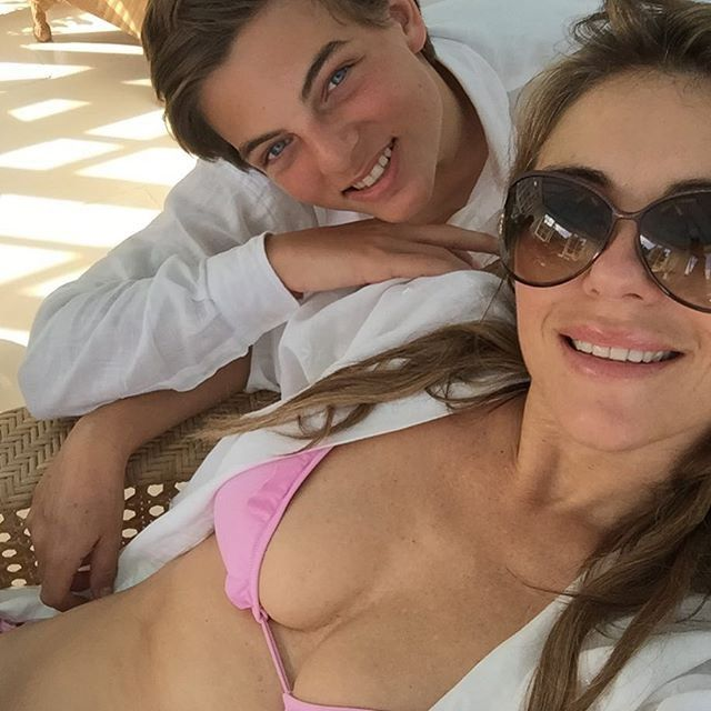 Pin for Later: You'll Be Wondering How Elizabeth Hurley Is Really 50 When You See Her Latest Bikini Pictures