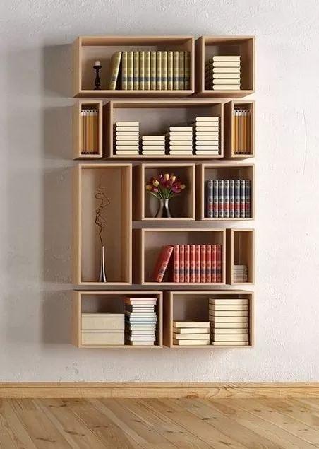 biblioteca modular moderna 100% madera 20 mm pino crudo