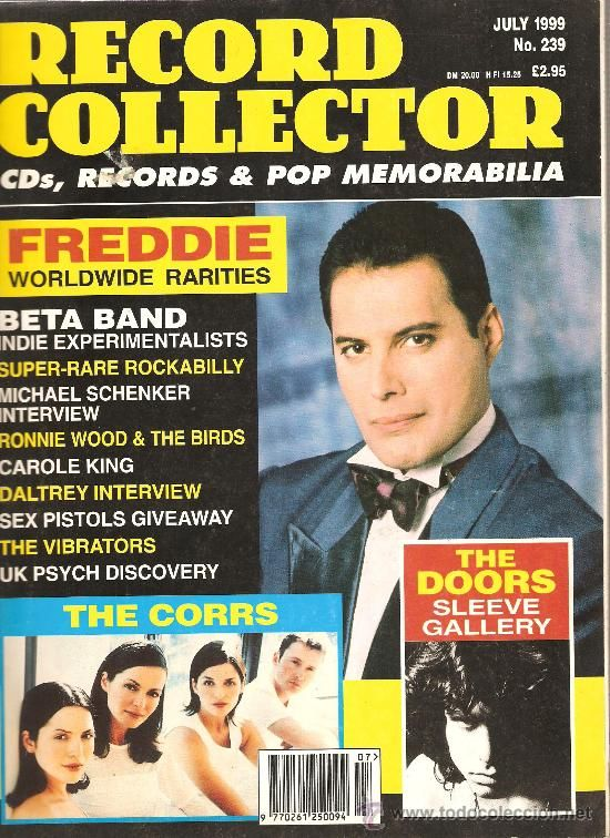 """Revista: """"Record Collector"""" . Figuran : The Corrs, Freddie Mercury and The Doors"""