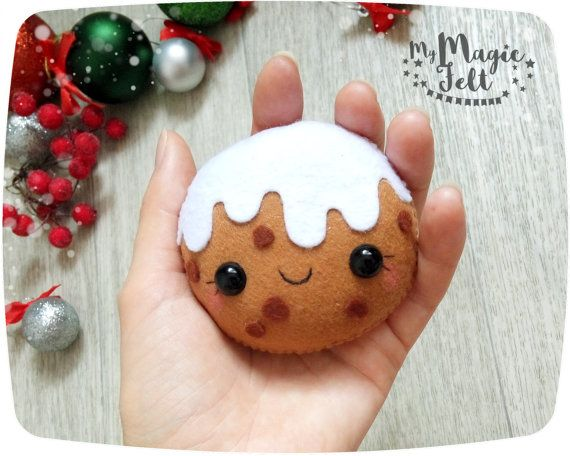 Christmas ornaments gingerbread cookie felt by MyMagicFelt on Etsy