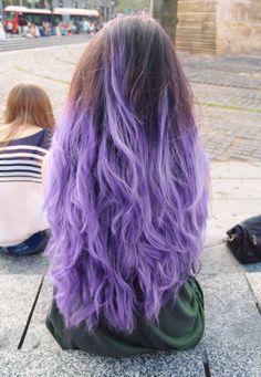 purple dip dye hair tumblr - Google Search
