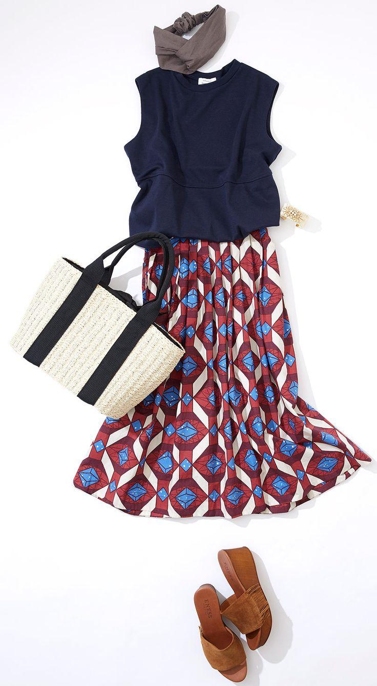 オフィスにも外ごはんにもOKなスカートスタイル! ルミネ新宿 ルミネ2のアイテムから、山や川はもちろん、街中でもアウトドアファッションが楽しめる夏ならではの着こなしを提案。人気スタイリスト入江未悠さんが「大人かわいい」をテーマに、上品でまねしやすいスタイリングを提案します!