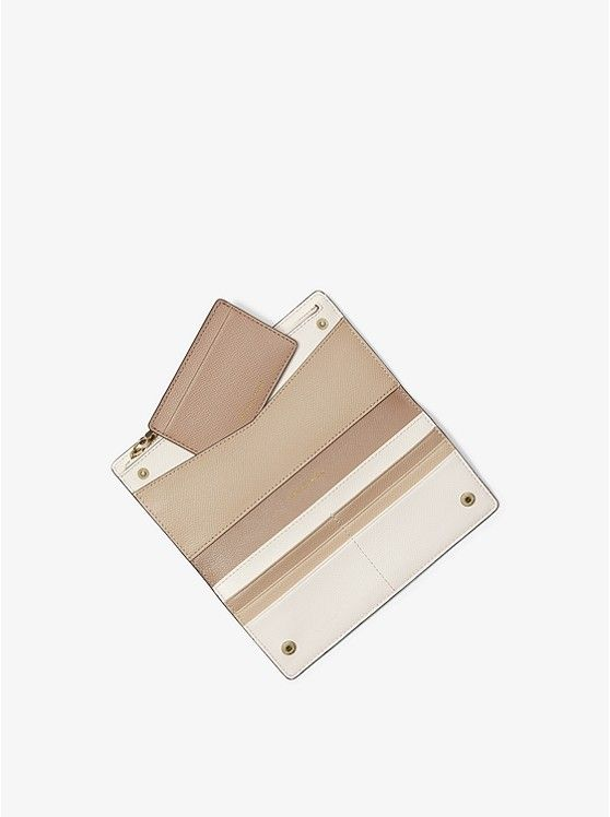 buy online cdd98 81d51 MICHAEL Michael Kors Large Saffiano Leather Slim Wallet | Purses ...