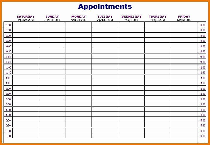 Free Appointment Schedule Template Luxury Unique Printable Appointment Calendar Appoi Appointment Calendar Weekly Appointment Calendar Calendar Template