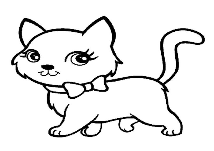 Kätzchen ausmalbild 07 Katze zum ausmalen Ausmalbilder