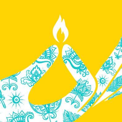 ... diwali deepavali greeting card hand light ...