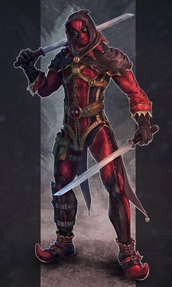 Deadpool meets assassin's Creed.