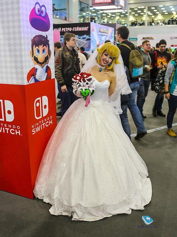 Princess Peach Wedding Mario Odissey Handmade Cosplay Dress Adult