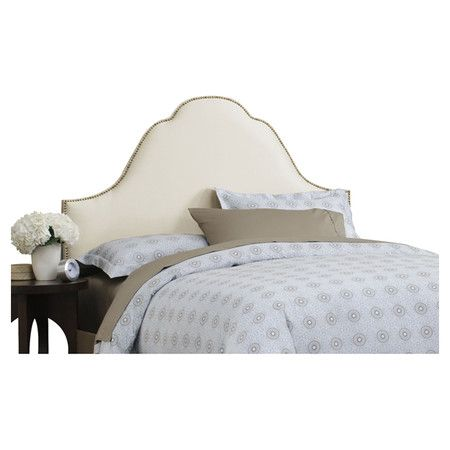 Found it at Wayfair - Button High Arch Full Headboard in Parchment