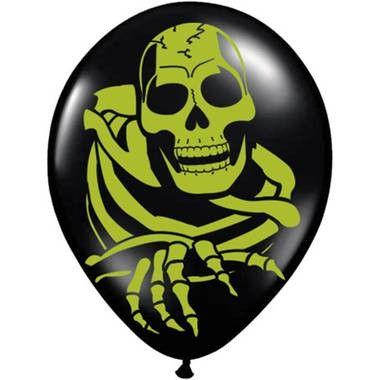 Zwarte ballonnen skelet - 8 stuks - 30 cm  Deze sfeervolle ballonnen zorgen voor een fantastisch effect tijdens een Halloween feest.  EUR 2.45  Meer informatie