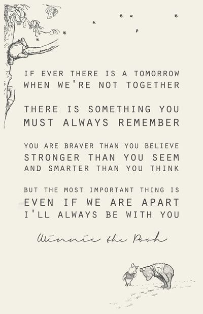Forever and always...winnie the pooh